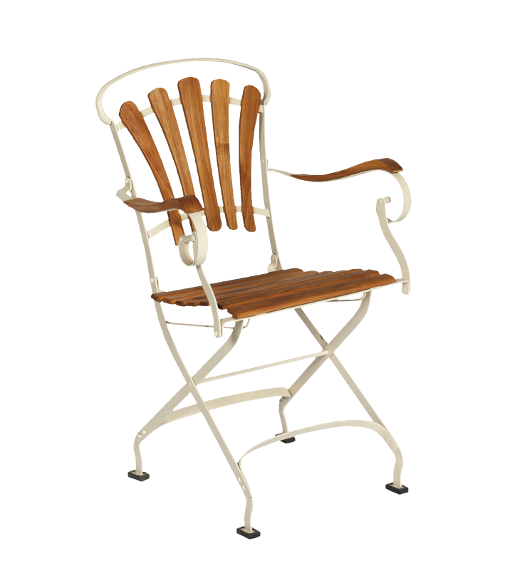"Nostalchic outdoor furniture Chairs Folding chair ""Savigny"" w"